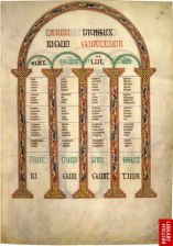Canon Table from Lindisfarne Gospels