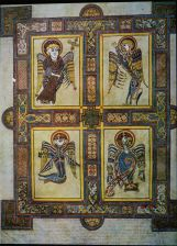 The Four Symbols Page from Book of Kells