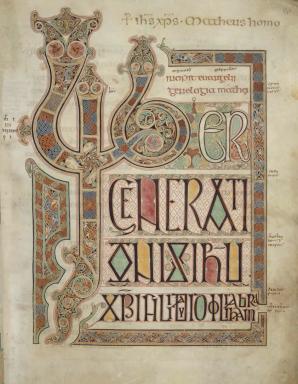 Lindisfarne Gospel Iniital page